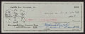 Football Collectibles:Others, 1960 Vince Lombardi Signed Check.. ...