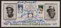 Baseball Collectibles:Others, 1990 Baseball Hall of Fame Induction Multi Signed First Day Cover,With Ted Williams....