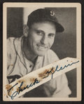 Baseball Cards:Singles (1930-1939), Signed 1939 Play Ball Chuck Klein Card. ...