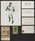 Boxing Collectibles:Autographs, Collection of Signed Boxing Photos/Cuts With Louis Tunney Dempsey& Will Harridge Lot of 7. ...