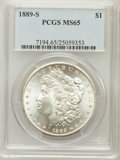 Morgan Dollars: , 1889-S $1 MS65 PCGS. PCGS Population (567/64). NGC Census:(256/26). Mintage: 700,000. Numismedia Wsl. Price for problem fr...