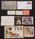 Baseball Collectibles:Others, Baseball Notables Signed Memorabilia Lot of 8, With Ed Walsh, SandyKoufax, etc....
