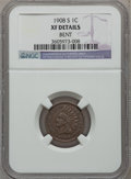 Indian Cents: , 1908-S 1C -- Bent -- NGC Details. XF. NGC Census: (316/1518). PCGSPopulation (269/845). Mintage: 1,115,000. Numismedia Wsl...