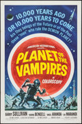 "Movie Posters:Horror, Planet of the Vampires (American International, 1965). One Sheet(27"" X 41""). Horror.. ..."