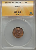 Lincoln Cents: , 1928-D 1C MS62 Red and Brown ANACS. NGC Census: (7/172). PCGSPopulation (8/320). Mintage: 31,170,000. Numismedia Wsl. Pric...