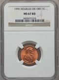Lincoln Cents: , 1995 1C Doubled Die Obverse MS67 Red NGC. NGC Census: (9491/6234).PCGS Population (2784/2662). Numismedia Wsl. Price for ...