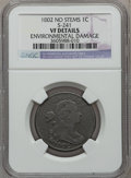 Large Cents, 1802 1C No Stems-- Environmental Damage -- NGC Details. VF. S-241.NGC Census: (26/227). PCGS Population (36/289). Mintage...