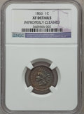 Indian Cents: , 1866 1C -- Improperly Cleaned -- NGC Details. XF. NGC Census:(23/427). PCGS Population (69/436). Mintage: 9,826,500. Numis...