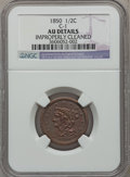 Half Cents: , 1850 1/2 C -- Improperly Cleaned -- NGC Details. AU. C-1. NGCCensus: (4/166). PCGS Population (9/161). Mintage: 39,800. N...