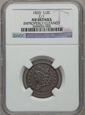 Half Cents: , 1833 1/2 C -- Improperly Cleaned -- NGC Details. AU. C-1. NGCCensus: (12/379). PCGS Population (43/375). Mintage: 120,000...