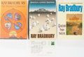 Books:Science Fiction & Fantasy, Ray Bradbury. Group of Three First Edition, First Printing Books and One Signed Postcard. Various publishers. One book with ... (Total: 3 Items)