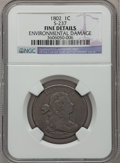 Large Cents: , 1802 1C -- Environmental Damage -- NGC Details. Fine. S-237. NGCCensus: (26/253). PCGS Population (32/325). Mintage: 3,43...