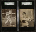 Baseball Cards:Lots, 1949 Sealtest Ice Cream Waitkus & Ashburn RC Pair (2). ...