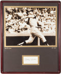 Baseball Collectibles:Photos, Mickey Mantle Signed Index Card Display....