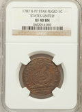 Colonials, 1787 1C Fugio Cent, STATES UNITED, Eight-Pointed Stars XF40 NGC. N. 15-Y, W-6915, R.2....