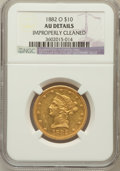 Liberty Eagles: , 1882-O $10 -- Improperly Cleaned -- NGC Details. AU. NGC Census:(26/106). PCGS Population (27/51). Mintage: 10,820. Numism...
