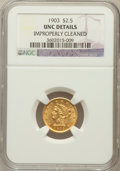 Liberty Quarter Eagles: , 1903 $2 1/2 -- Improperly Cleaned -- NGC Details. Unc. NGC Census:(58/5397). PCGS Population (85/5170). Mintage: 201,000. ...