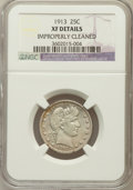 Barber Quarters: , 1913 25C -- Improperly Cleaned -- NGC Details. XF. NGC Census:(4/89). PCGS Population (10/169). Mintage: 484,613. Numismed...