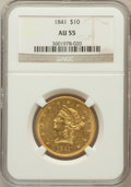 Liberty Eagles, 1841 $10 AU55 NGC....