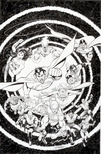 George Perez The Brave and the Bold #12 Cover Original Art (DC, 2008)