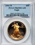 Modern Bullion Coins: , 1994-W G$50 One-Ounce Gold Eagle PR69 Deep Cameo PCGS. PCGSPopulation (1758/145). NGC Census: (1145/575). Numismedia Wsl....