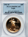 Modern Bullion Coins: , 1993-W G$50 One-Ounce Gold Eagle PR69 Deep Cameo PCGS. PCGSPopulation (1805/80). NGC Census: (1057/350). Mintage: 34,389. ...