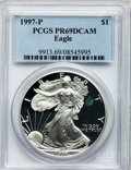 Modern Bullion Coins: , 1997-P $1 Silver Eagle PR69 Deep Cameo PCGS. PCGS Population(4586/503). NGC Census: (122131/9305). Numismedia Wsl. Price ...