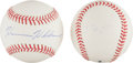 Miscellaneous Collectibles:General, Astronauts Harrison Schmitt and Dave Scott Single Signed BaseballsLot of 2....