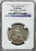 Seated Half Dollars: , 1866-S 50C Motto -- Improperly Cleaned -- NGC Details. VF. NGCCensus: (0/53). PCGS Population (1/65). Mintage: 994,000. ...