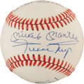 Baseball Collectibles:Balls, 500 Home Run Club Multi Signed Baseball With Mantle, Aaron &Mays. ...