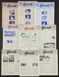 """Baseball Collectibles:Publications, 1947-66 New York Yankees """"Yank"""" Newsletters Lot of 9...."""
