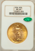 Saint-Gaudens Double Eagles, 1926 $20 MS66 NGC. CAC. FS-101....