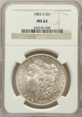 Morgan Dollars, 1883-S $1 MS62 NGC....