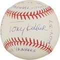 Autographs:Baseballs, Tony Kubek Single Signed Baseballs With Lengthy Inscription....