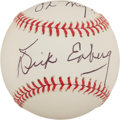 "Autographs:Baseballs, Dick Enberg Single Signed Baseball ""Oh My!""...."