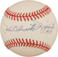 "Autographs:Baseballs, Phil ""Scooter"" Rizzuto Single Signed Baseball, PSA NM- MT 8.5...."