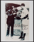 Baseball Collectibles:Photos, George H.W. Bush Signed Photograph - Yale Photo with Babe Ruth. ...