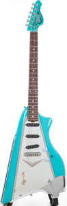 Musical Instruments:Electric Guitars, Circa 1990 American Showster AS-57 Cascade Green Solid Body Electric Guitar. ...