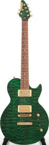 Musical Instruments:Electric Guitars, Circa 2000 Brian Moore Green Solid Body Electric Guitar, Serial #D158. ...