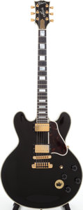 Musical Instruments:Electric Guitars, 1991 Gibson Lucille Black Semi-Hollow Body Electric Guitar, Serial#94011363. ...