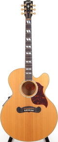 Musical Instruments:Acoustic Guitars, 1997 Gibson EC-30 BKE Natural Acoustic Electric Guitar, Serial # 93017019....