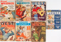 Books:Pulps, [Pulps]. Group of Seven Magazines, Mostly Western with OneDetective. Various publishers. Generally good or bettercondition...