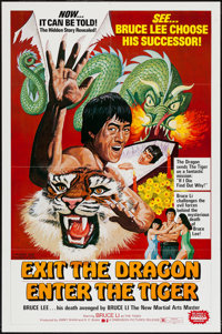 """Exit the Dragon, Enter the Tiger & Other Lot (Dimension, 1976). One Sheets (2) (27"""" X 41""""). Action. ... (T..."""