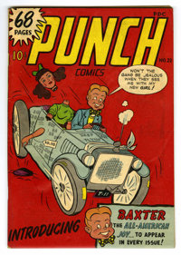 Punch Comics #22 Mile High pedigree (Chesler, 1947) Condition: VG. Introduction of Baxter. 68 pages. Overstreet 2006 VG...