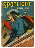 Golden Age (1938-1955):Adventure, Spotlight Comics #1 (Chesler, 1944) Condition: FR. George Tuska cover art. Overstreet 2006 GD 2.0 value = $81....