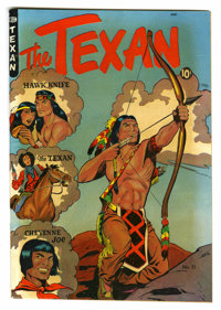"The Texan #11 Davis Crippen (""D"" Copy) pedigree (St. John, 1950) Condition: VF-. Matt Baker cover and art. Ove..."