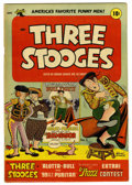 Golden Age (1938-1955):Humor, Three Stooges #5 (St. John, 1954) Condition: FN+. Norman Maurer cover and art. Joe Kubert art. Based on this copy's provenan...