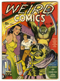 Weird Comics #1 (Fox Features Syndicate, 1940) Condition: Apparent FN. George Tuska outdid himself on this cover that fe...