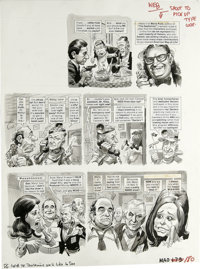 "Jack Davis - Mad #180 Page Original Art, Group of 4 (EC, 1976). Jack Davis illustrates ""TV Disclaimers We'd Like to..."