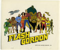 "Animation Art:Production Cel, ""The New Animated Adventures of Flash Gordon"" Animation CelOriginal Art (Filmation, 1980). Mongo is on a collision course w..."